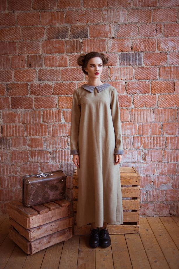 Тёплое и уютное зимнее платье