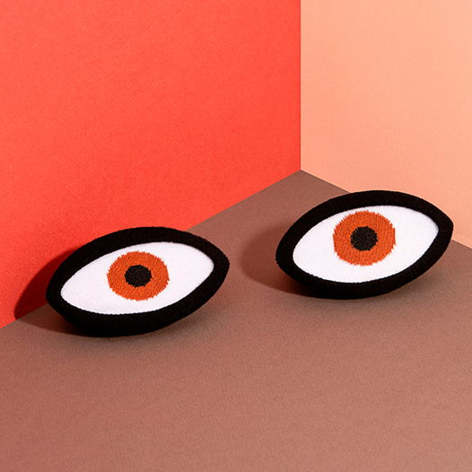 Носки в форме глаз DOIY Eye Brown Socks