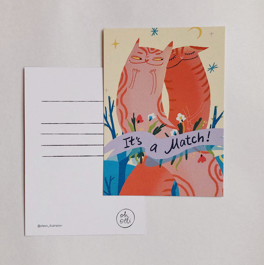 Комплект из четырех открыток 'Oh,olli'