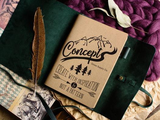 Кожаный блокнот А5 ручной работы -MYSTERY- цвет Зеленый