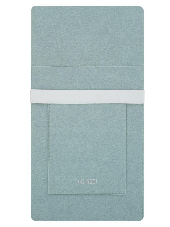 Чехол из фетра для MacBook и ноутбуков, голубой, вертикальный с крышкой