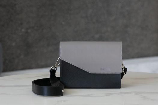 Женская сумка из натуральной кожи со сменным клапаном