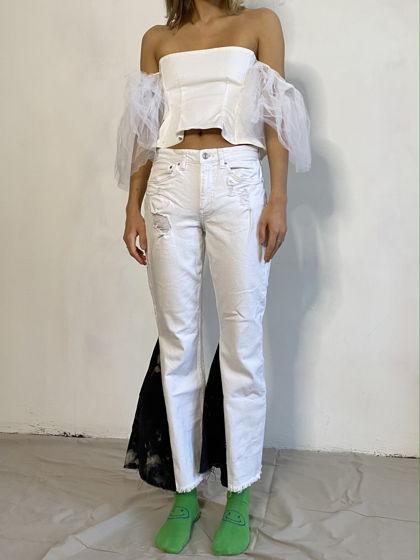 Кастомизированные джинсы клеш KATEPETROV