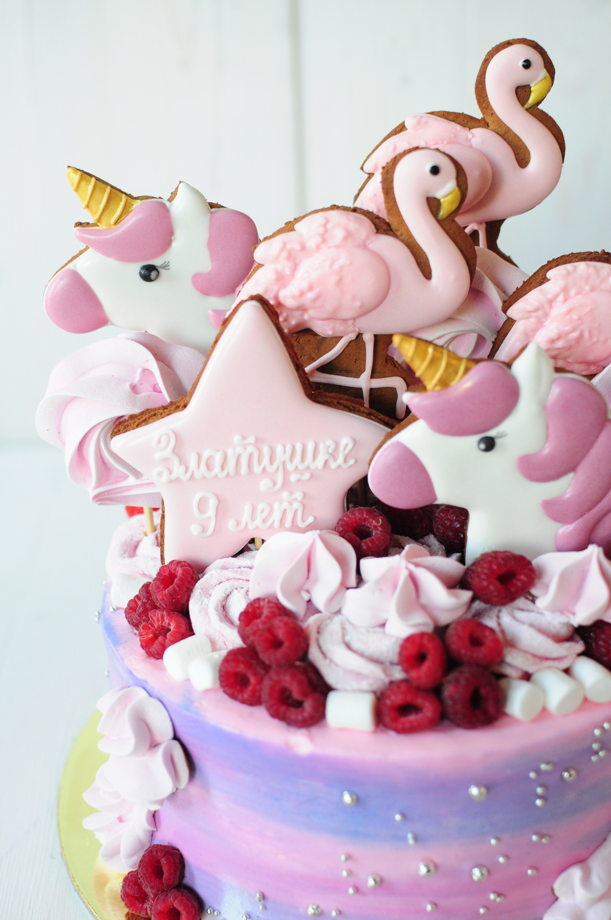 Торт - оформление Flamingo (Фламинго)