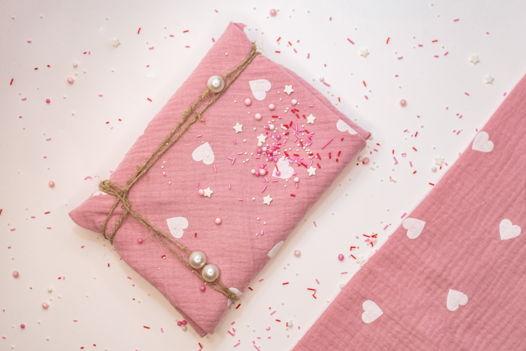 Фуросики розовый муслин