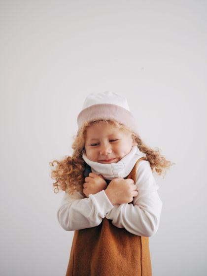 Детский двухсторонний снуд из хлопка в рубчик