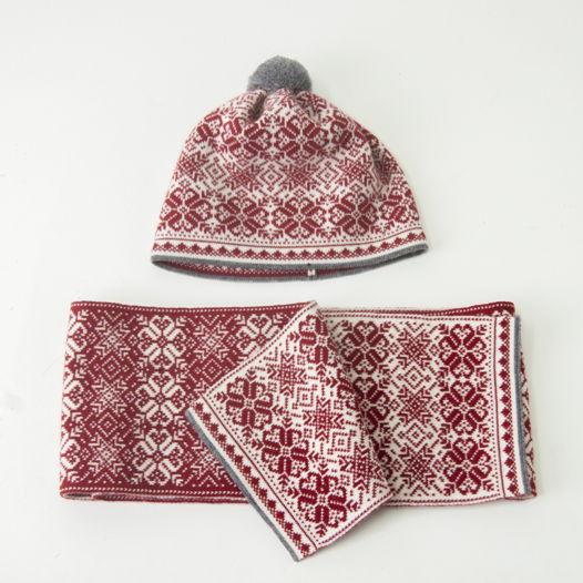 "Подарок в стильной коробке: шапка + шарф"" , made in Estonia"