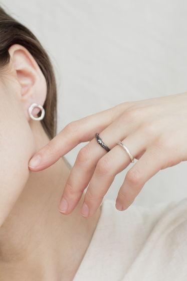 """серебряное кольцо """"волны"""""""