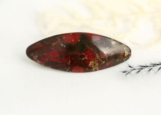 Красно-коричневая лаковая женская заколка для волос Яшма