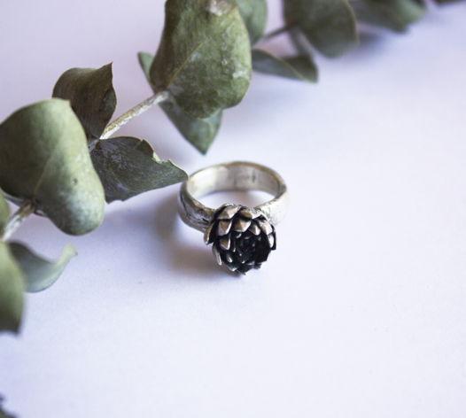 Серебряное кольцо Child Plants