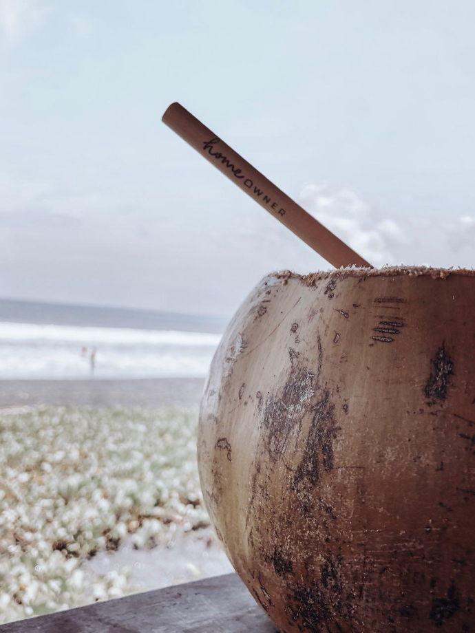 Трубочка из бамбука с Бали