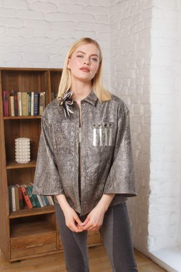 Кожаная рубашка/жакет DERBY с декором на кармане