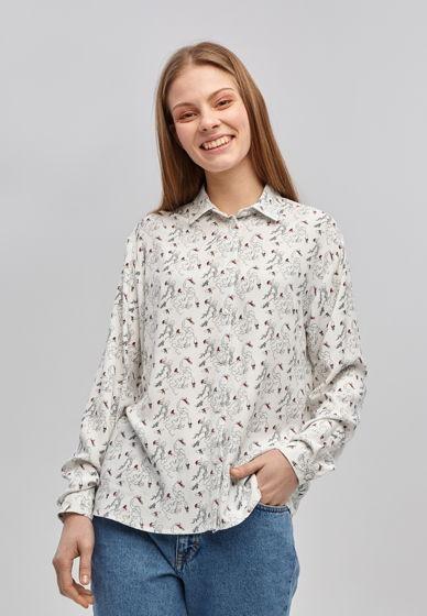 """Принтованная женская рубашка """"Серфингисты"""""""