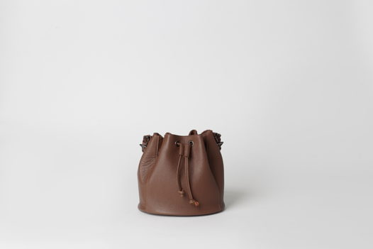Сумка-торба из натуральной кожи  - NAVY - real leather bucket bag. В наличии в Москве