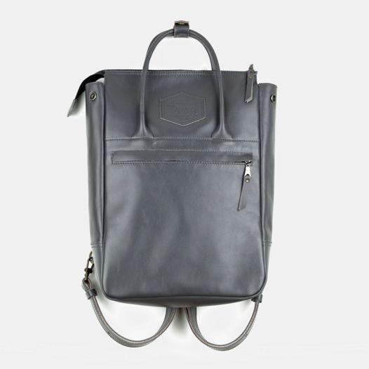Кожаный рюкзак-сумка Urban Pack Gray