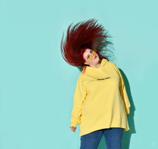 """Толстовка """"Люблю себя"""" в цвете лимон, размер 60-68"""