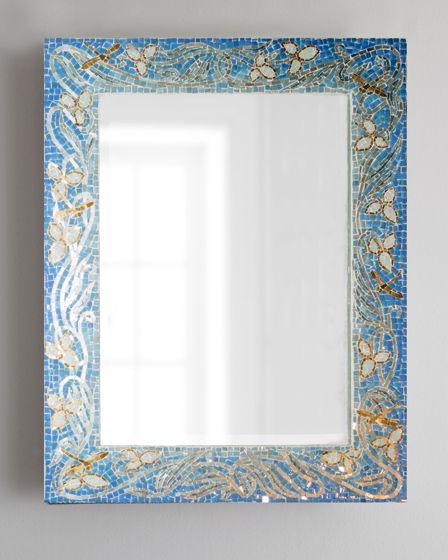 Зеркало в мозаичной раме в стиле Ар нуво