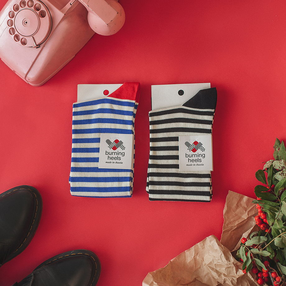 Гольфы тельняшка/striped vest