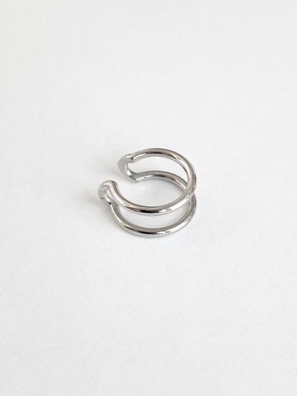 Кафф двойной на середину уха / серебро 925