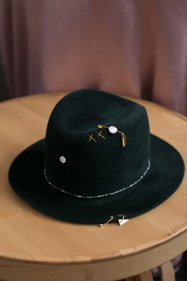 Шляпа Марсель из велюра