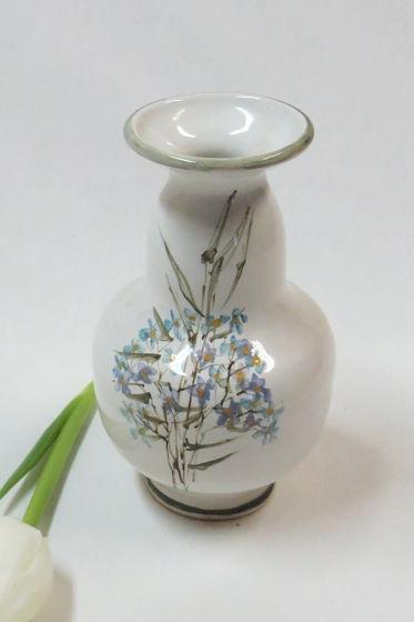 Керамическая миниатюрная вазочка.