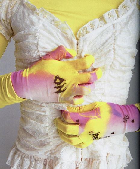 Перчатки с принтом SMILE