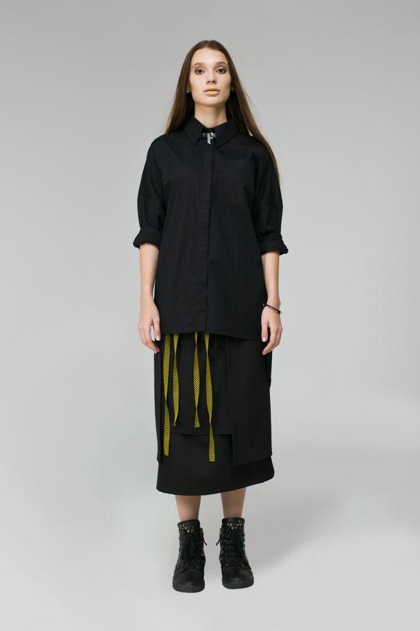 """Асимметричная юбка с разрезами """"STAIRS"""""""