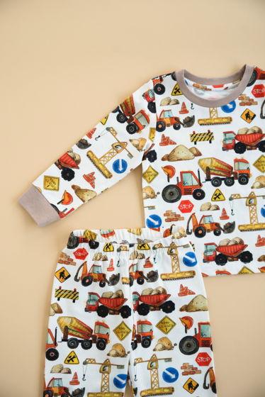 """Детская пижама с авторским принтом """"Стройплощадка"""""""