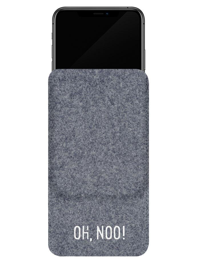 Чехол из фетра для iPhone и телефонов, серый