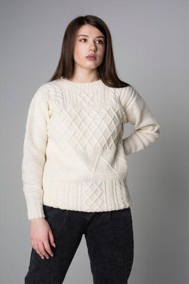 Женский свитер с узорами teplee_teplogo