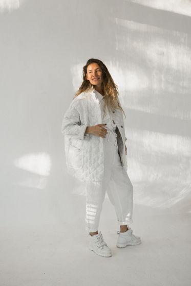 Стёганое кимоно изо льна