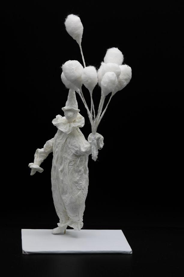 """Авторская кукла """"Клоун с шарами"""""""