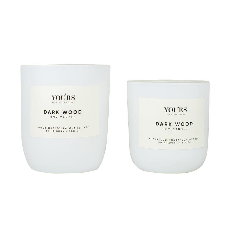 Ароматическая свеча из соевого воска Dark Wood 130 гр