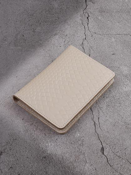 """Обложка для паспорта """"Евро"""" с вкладышем для автодокументов Молочный"""