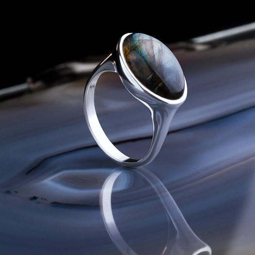 Серебряное кольцо Haze Labradorit