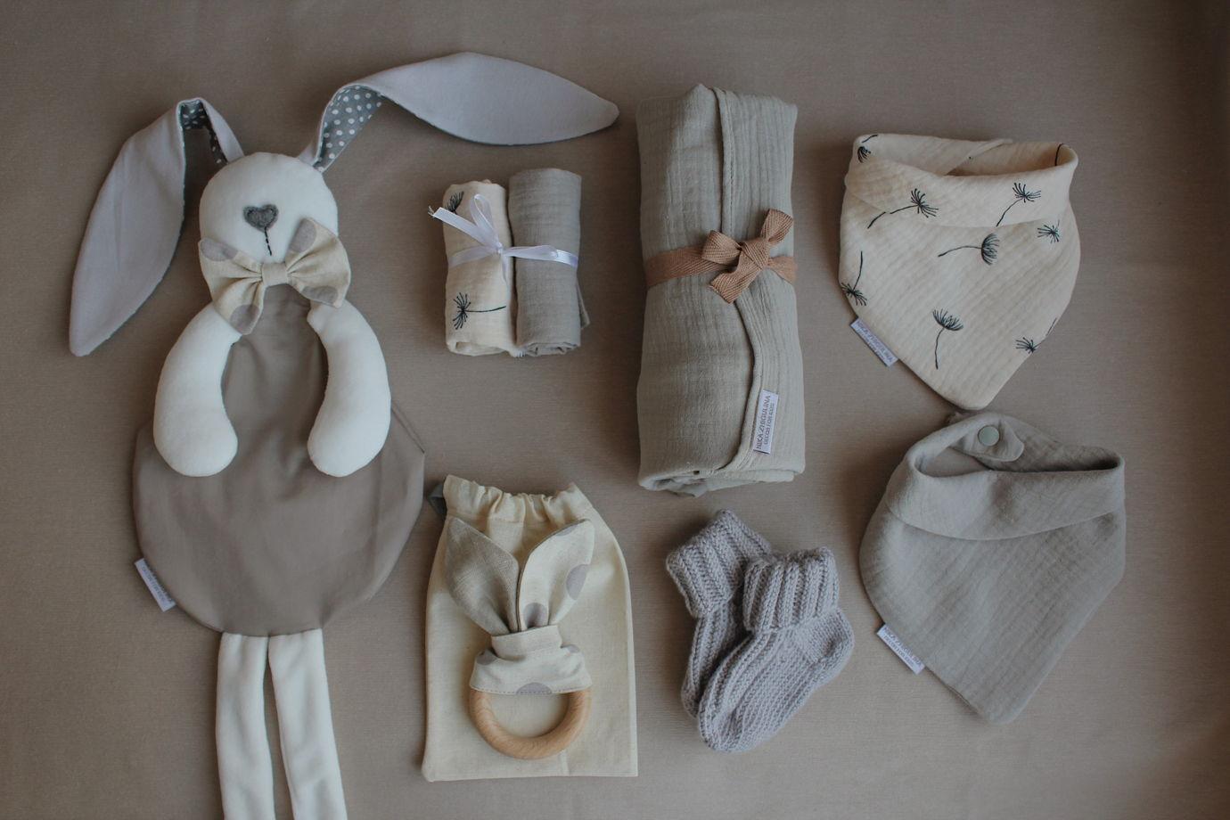 """Подарочный набор BabyBox от NZ """"теплый серый"""""""