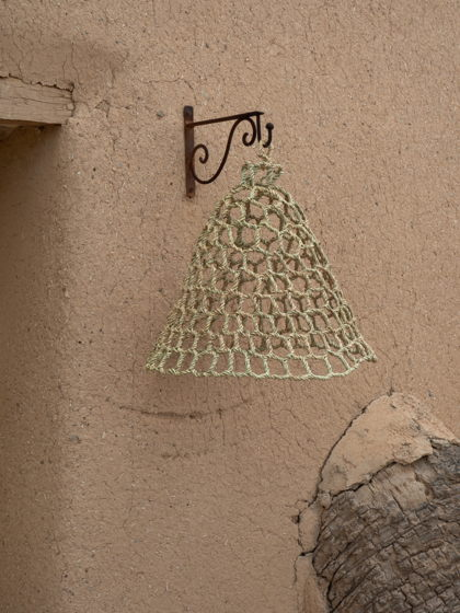 Плетёный абажур из стеблей Халфа No11