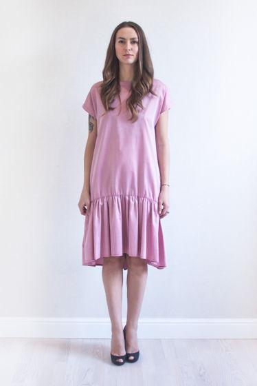 Хлопковое Платье с воланом Летний вечер
