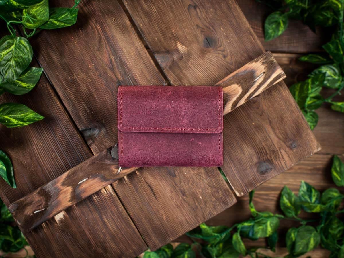 Визитница из натуральной кожи для карт и визиток -COFFER- ручной работы цвет Коньяк