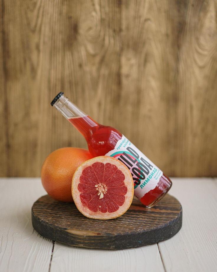Лимонад WILD SODA грейпфрут-клубника-мята