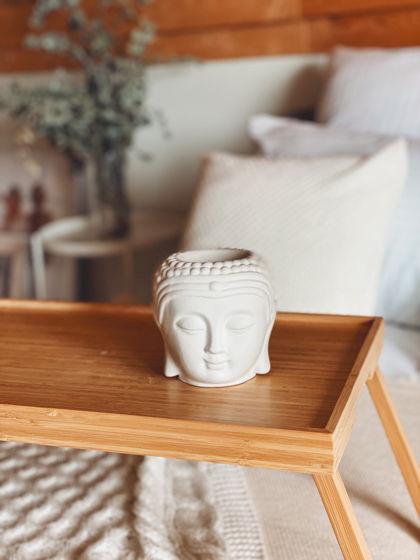 Кашпо Будда из бетона