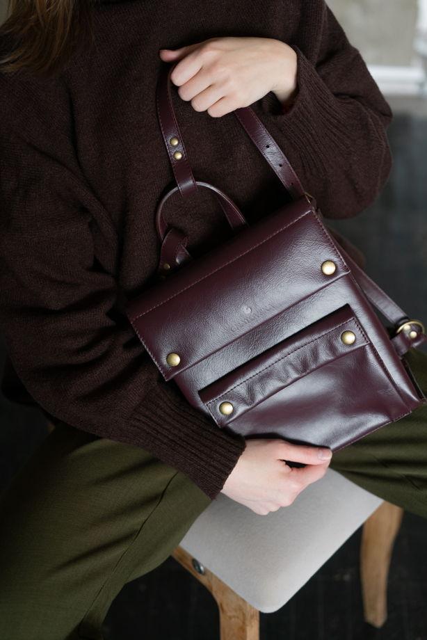Рюкзак из натуральной кожи арт.RU2