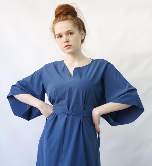 Платье Маш   голубой