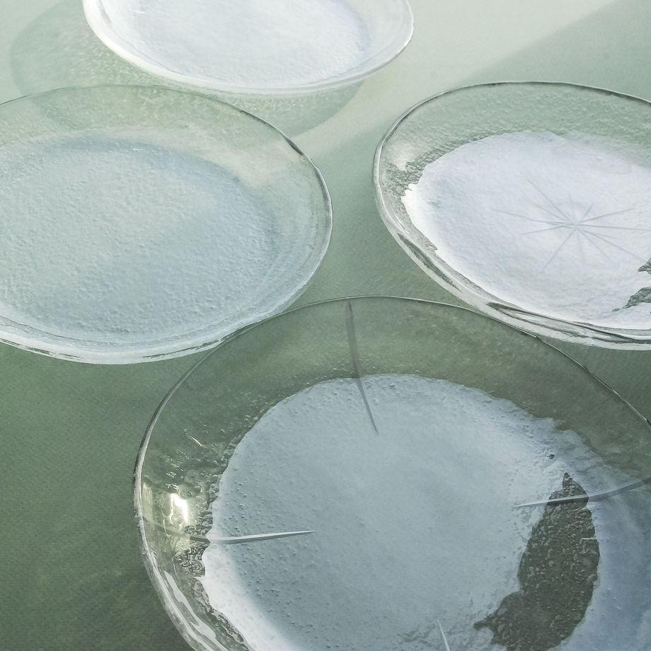 Стеклянная тарелка Prosto