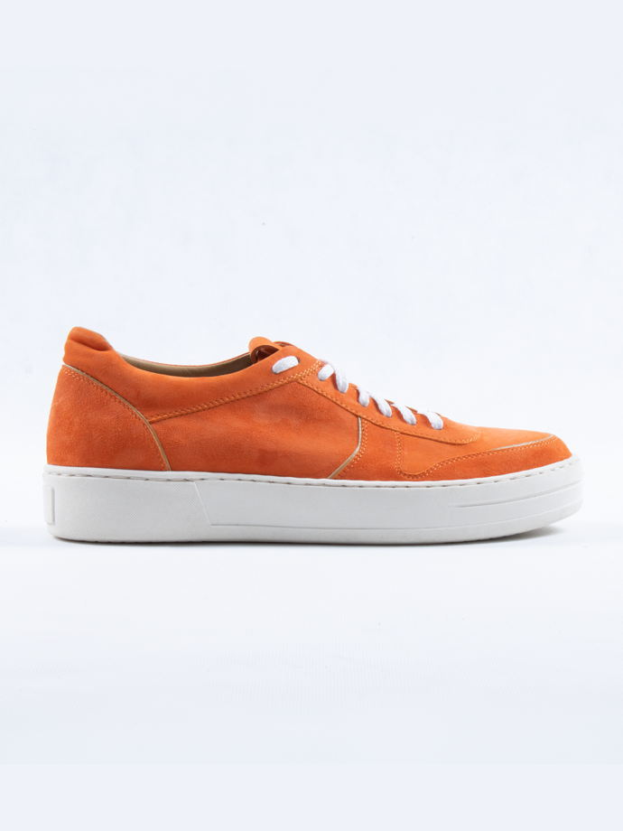 Кеды замша, оранжевые / Arcadia Shoes
