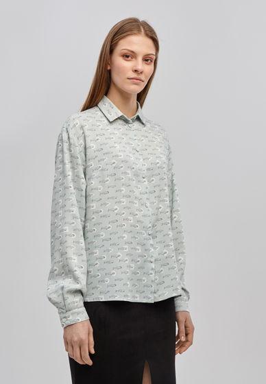 """Принтованная женская рубашка """"Киты"""""""