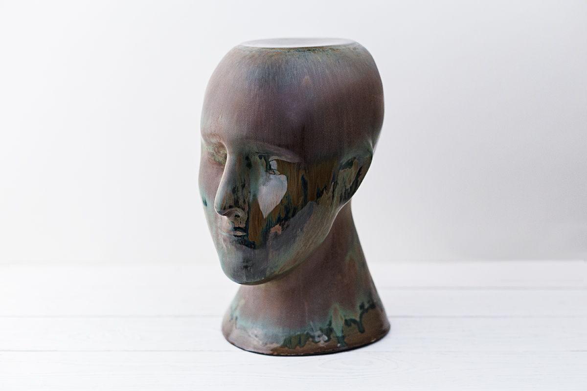 керамическая ваза Голова