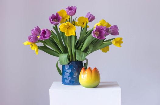 """Керамическая ваза """"Yellow Tulip"""""""