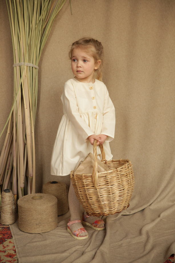 Платье хлопковое KYLIE в цвете натур