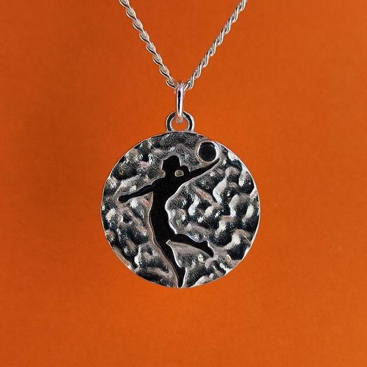 Серебряная подвеска Медаль для баскетболистки